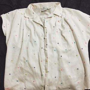 Vintage Colorful Button Up